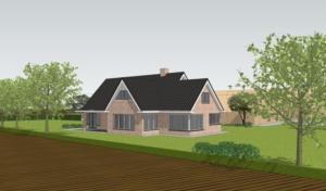 nieuwbouw boerderijwoning Erm