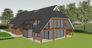 (ver)bouw woonboerderij  en nieuwbouw schuur Dalen