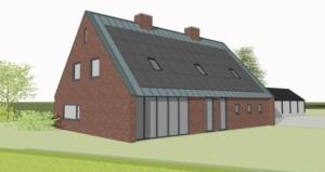 energieneutrale moderne boerderijwoning te Schoonebeek